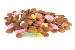 Pile of ginger nuts. Candy at Dutch Sinterklaas event Stock Photo