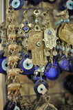 A pile of Glass Evil Eye Amulet Stock Photo