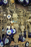 A pile of Glass Evil Eye Amulet Stock Photos