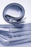 Pile of glossy magazines Stock Images