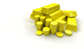 Pile of gold Stock Photo