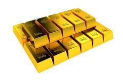 A pile of gold bullion. Stock Photos