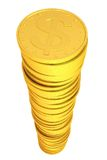 Pile of gold coins Royalty Free Stock Photos