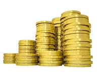 Pile gold coins Royalty Free Stock Photos