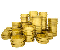 Pile gold coins Stock Photography