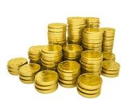 Pile gold coins Stock Photos