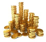A pile of gold coins Stock Image