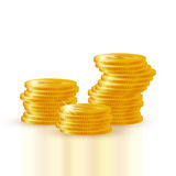 Pile of gold coins Royalty Free Stock Image