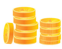 Pile of the gold coins Stock Image
