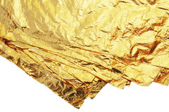 Pile of gold leafs Royalty Free Stock Images