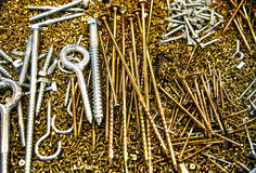 Screws background Stock Image