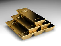 Pile of goldbars Royalty Free Stock Image
