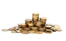 Pile of golden coins Royalty Free Stock Image