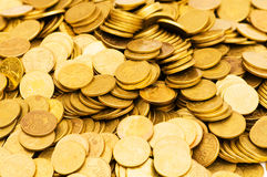 Pile of golden  coins Royalty Free Stock Images