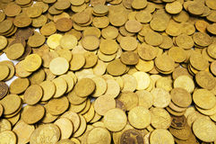 Pile of golden  coins Stock Image