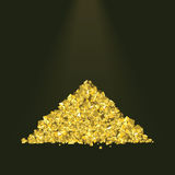 Pile of golden sand Royalty Free Stock Photography