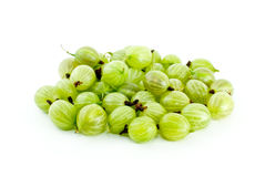 Pile of gooseberries. Isolated on the white background Stock Image