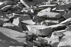 Pile of granite Stock Photos