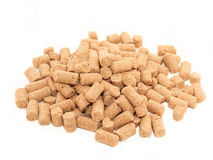 Pile of granules  Wheat Bran background. Food for horses and far Royalty Free Stock Image