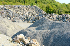 Pile of gravel Royalty Free Stock Images