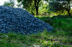 Pile of the gravel Stock Image