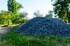 Pile of the gravel Royalty Free Stock Images