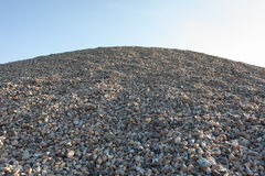 Pile of gravel. Pile of industrial gravel outdoors Stock Photo