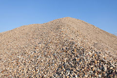 Pile of gravel. Pile of industrial gravel outdoors Stock Photography