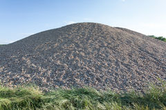 Pile of gravel. Pile of industrial gravel outdoors Royalty Free Stock Photo
