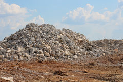 Pile of Gravel Size Rocks on Construction Site Royalty Free Stock Images