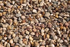 Pile of gravel stones. Abstract background and texture for design Stock Photography