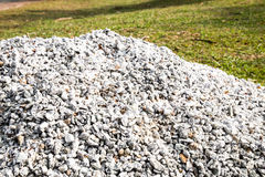 Pile of gravel stones for use as construction material Royalty Free Stock Images