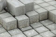 Pile of gray bricks Royalty Free Stock Photo