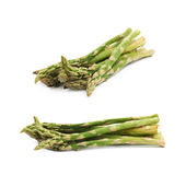 Pile of green asparagus isolated Stock Photography