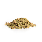 Pile of green cardamom seeds Royalty Free Stock Photo