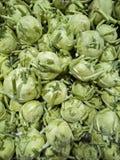 Pile of green kohlrabi on Mediterranean market royalty free stock photography