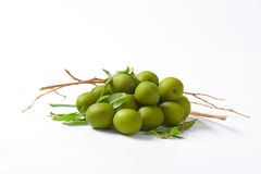 Pile of green olives Stock Image