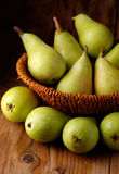 Pile of green pears Stock Photos