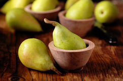 Pile of green pears Stock Photo