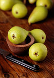 Pile of green pears Stock Images