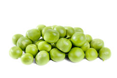 Pile of green peas Stock Images