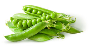 Pile green peas in pods Royalty Free Stock Photography