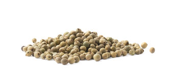 Pile of green peppercorn isolated Royalty Free Stock Photography