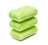 Pile of green soap Stock Photos