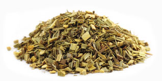 Pile of Green tea with lemon grass Stock Image
