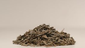 Pile of a green tea - Macro shot Stock Photo