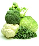 Pile of green vegetables Stock Photo