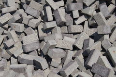 A pile of grey construction blocks Royalty Free Stock Photography