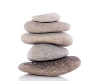 A pile of grey stones Stock Photos