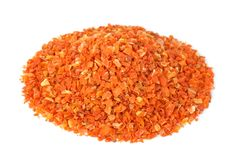Pile of grinded dried carrot Royalty Free Stock Photography
